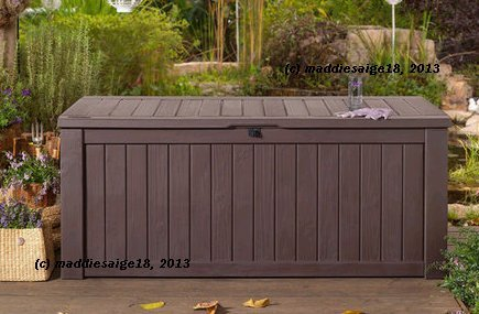 150 Gallon Deck Box For Storage And Sitting Easy Diy Sheds