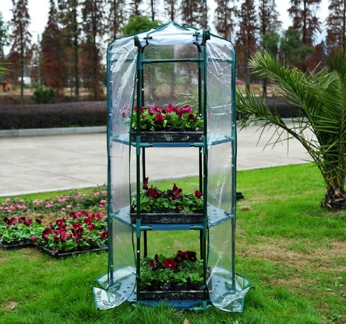 Portable Indoor Greenhouse : Outsunny tier mini portable greenhouse hot house
